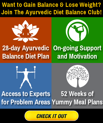 Join Ayurveda Diet Balance Club!
