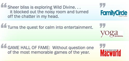 Wild Divine Stress Reducer Game in the Media